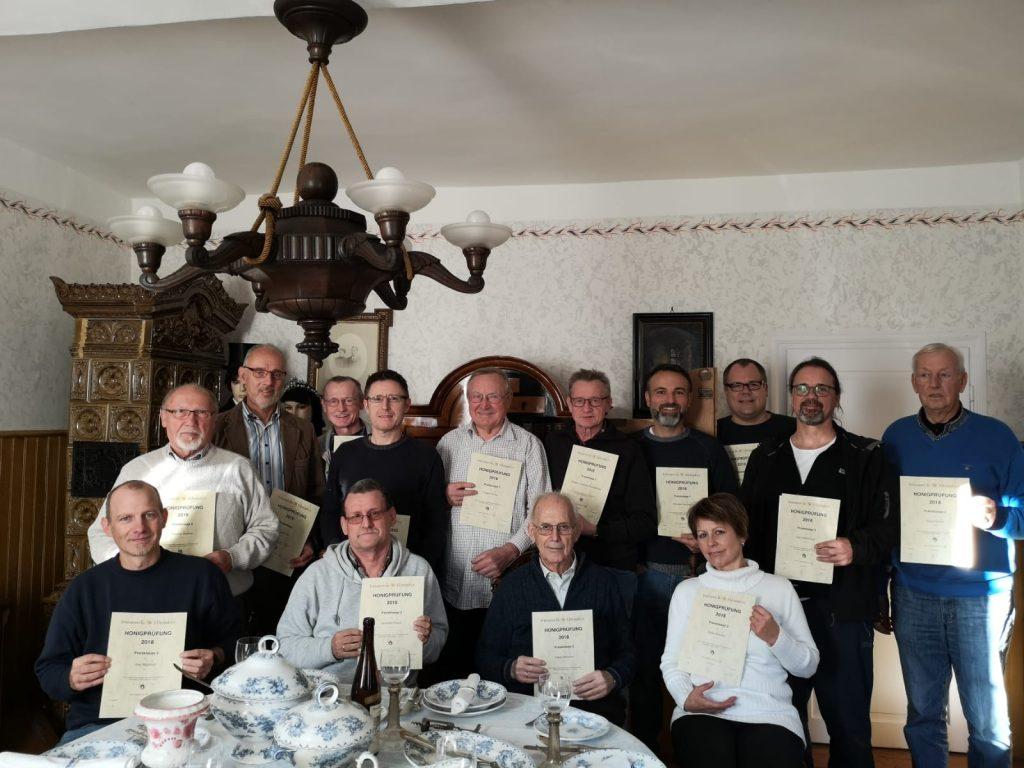Preisträger der Vereins-Honigprüfung 2018